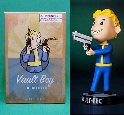 "Fallout 3 Vault Boy 5"" Small Guns 101 Bobblehead (Series #3) Vault-Tec Pip Boy"
