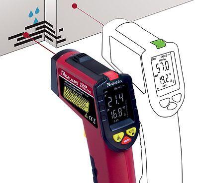 Kaleas Infrarot Klima Detector Schimmel Warner Thermometer inkl. Batterie