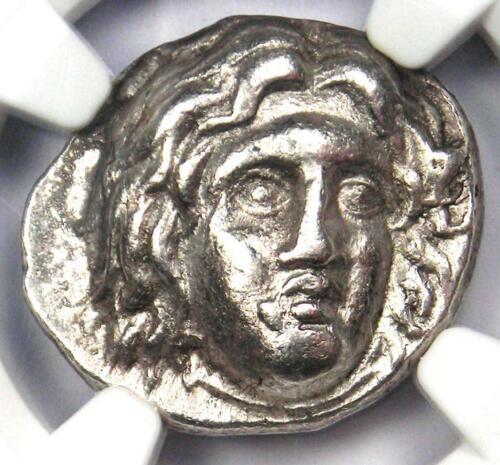 Caria Rhodes Greek AR Didrachm Coin Rose Helios 275-250 BC - NGC Choice VF
