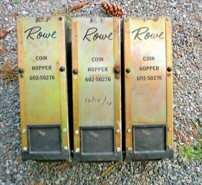 Lot Of 3 Rowe Bill Changer Hi-capacity Coin Hopper 602-50276 2