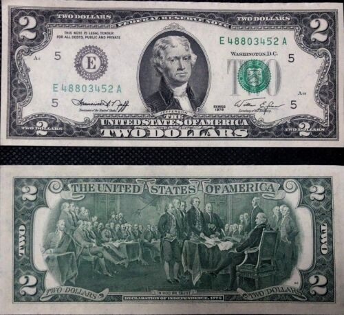 $2 DOLLAR BILL TWO DOLLAR BILL 1976 MAGNIFICENT! UNCIRCULATED, NEW + BONUS!