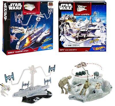 Hot Wheels Star Wars Rebel Transport Attack or Hoth Echo Base Battle Playsets