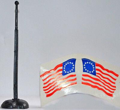 (Timpo Original 1776 U.S. 13-Star Flag, Flagpole and Base - 3 pieces)