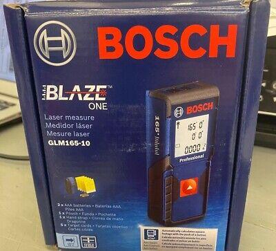 Bosch Blaze One 165ft. Laser Measurer W Auto Square Footage Detection Glm165-10