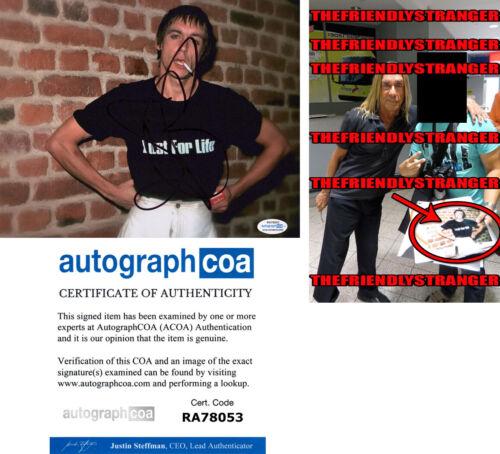 "IGGY POP signed Autographed ""LUST FOR LIFE"" 8X10 PHOTO a EXACT PROOF - ACOA COA"
