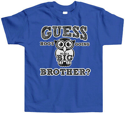 Guess Hoos Going To Be A Big Brother Toddler T-Shirt Tee Owl