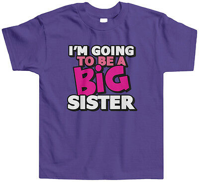 - Threadrock Kids I'm Going To Be A Big Sister Toddler T-shirt Announcment