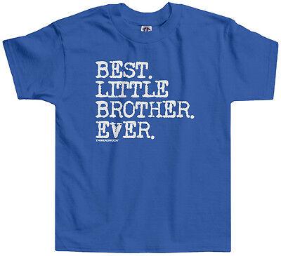 - Threadrock Boys Best Little Brother Ever Toddler T-shirt Baby Bro Slogan