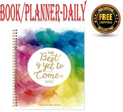 2021 Appointment Bookplanner-daily Hourly Planner 8x 10weekly Appointment B