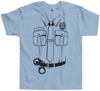 Threadrock Kids Police Uniform Toddler T-shirt Law Enforcement Cop (Toddler Police Uniform)