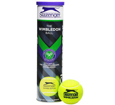4 x Slazenger Wimbledon Tennis Balls ITF Approved High Visibility-Brand New