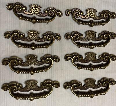 Vintage Brass Drawer Pull Knob 1 inch Mushroom Round Midcentury Kitchen Cabinet Dresser Desk Vanity Jewelry Box Chest Contemporary MCM