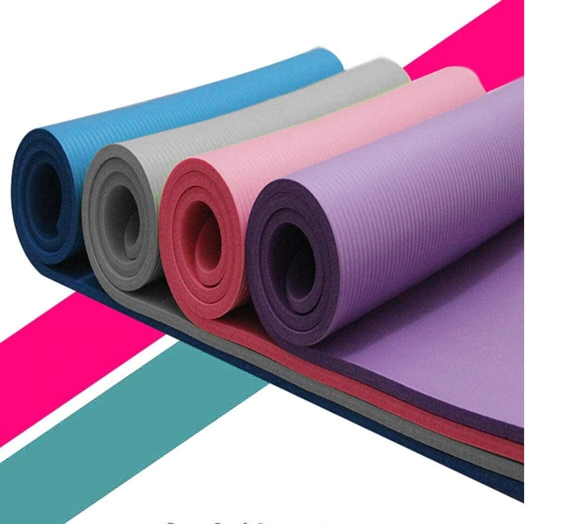 New Professional Yoga Mat Exercise Fitness Gym Workout Thick