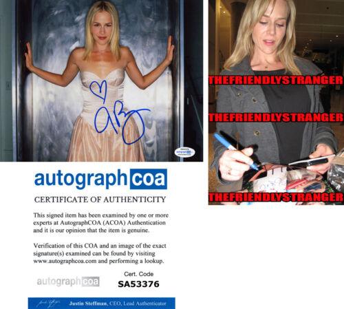 JULIE BENZ signed Autographed 8X10 PHOTO m PROOF - Hot SEXY Dexter ACOA COA