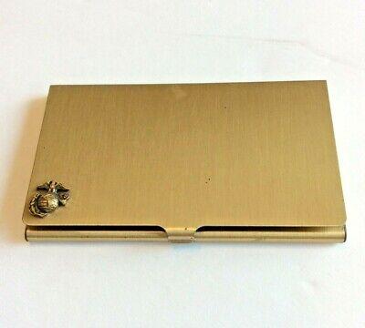 Vintage Gold Tone Marine Corps Ega Business Card Caseholder