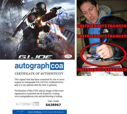 "Rare RAY PARK signed Autographed ""GI JOE"" 8X10 Photo EXACT PROOF Snake Eyes COA"