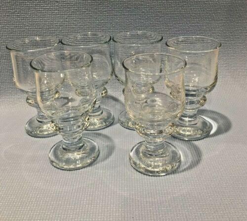 6 Vintage Signed Holmegaard HG Bang Per Lutken Denmark Studio Art Glass Goblets