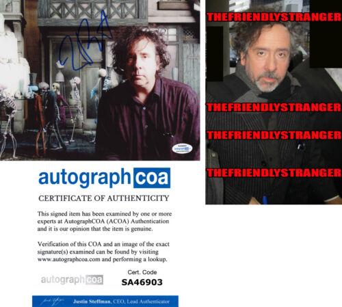 "Tim Burton Signed ""nightmare Before Christmas""  8x10 Photo - Proof - Acoa Coa"