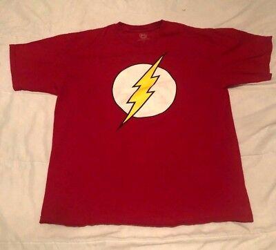 DC COMICS ORIGINAL FLASH DISTRESSED LOGO RED T-SHIRT SIZE XL ()