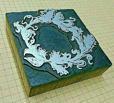 Decorative Border Wreath Letterpress Printer Block Kelsey Printing Press