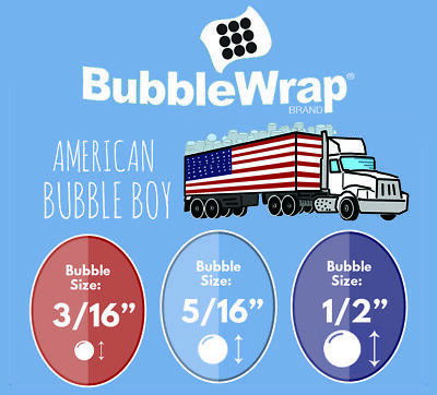 Bubble Wrap Small Bubble 316 Medium 516 Large 12 - 24 12 48 Rolls