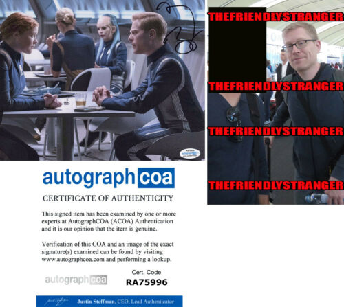 "ANTHONY RAPP signed Autographed ""STAR TREK DISCOVERY"" 8X10 PHOTO a PROOF - ACOA"