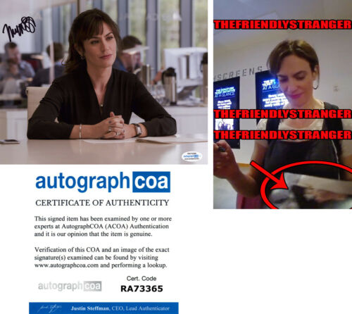 """MAGGIE SIFF signed Autographed """"BILLIONS"""" 8X10 PHOTO b EXACT PROOF Wendy ACOA"""