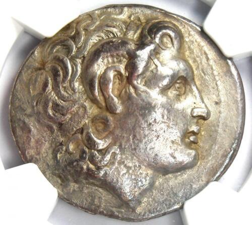 Thrace Alexander the Great Lysimachus AR Tetradrachm Coin 305 BC - NGC Choice VF