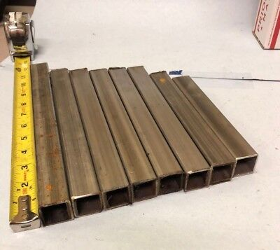 Lot Of 8 Pcs 1 Stainless Square Tube X 116 Wall From 10-34 To 6-34 Long