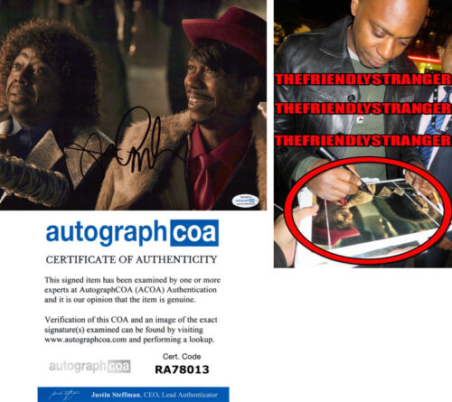 "DAVE CHAPPELLE signed ""CHAPPELLE'S SHOW"" 8X10 PHOTO C - EXACT PROOF - ACOA COA"