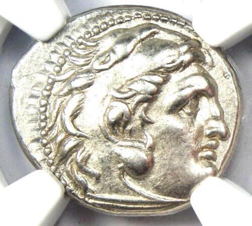 Thrace Alexander the Great III Lysimachus AR Drachm Coin 305-281 BC - NGC AU