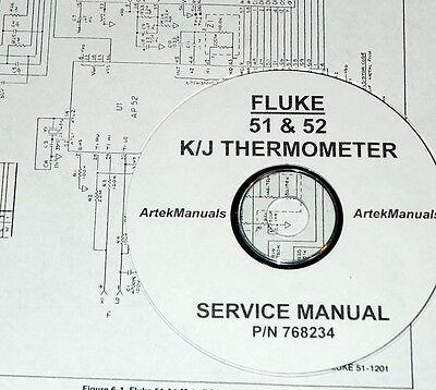 Fluke 51 52 Kj Thermometer Service Manual W Schematics