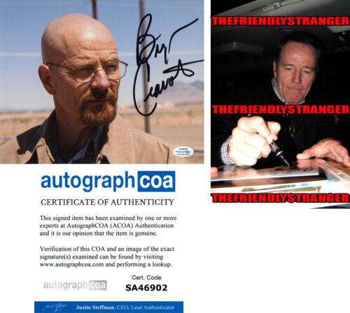 "BRYAN CRANSTON signed Autographed ""BREAKING BAD"" 8X10 PHOTO - PROOF - ACOA COA"