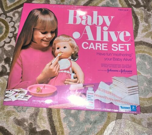 Rare Vintage 1974 Baby Alive Care Set Never Removed from Box