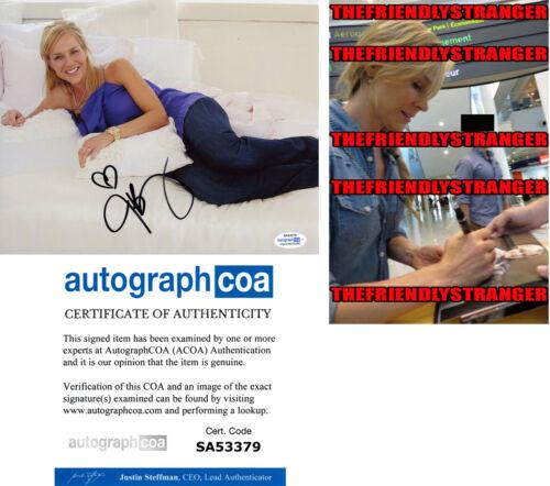 JULIE BENZ signed Autographed 8X10 PHOTO p PROOF - Hot SEXY Dexter ACOA COA