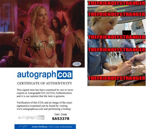 JULIE BENZ signed Autographed 8X10 PHOTO o PROOF - Hot SEXY Dexter ACOA COA