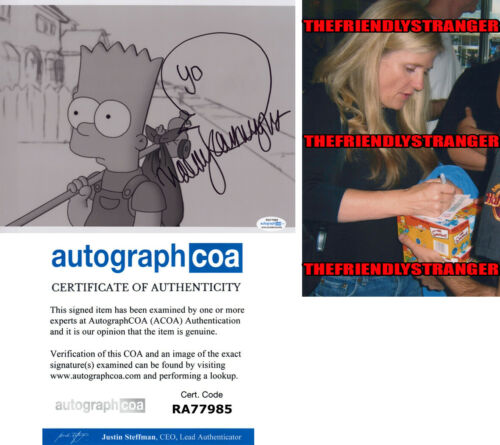 NANCY CARTWRIGHT signed Autographed THE SIMPSONS 8X10 PHOTO - Bart Simpson ACOA