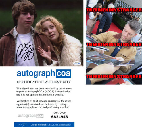 "PATRICK FUGIT signed Autographed ""ALMOST FAMOUS"" 8X10 PHOTO - PROOF William ACOA"