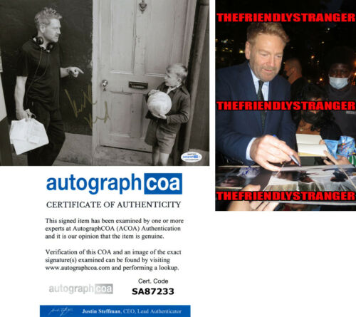 """KENNETH BRANAGH signed Autographed """"BELFAST"""" 8X10 PHOTO g PROOF - ACOA COA"""