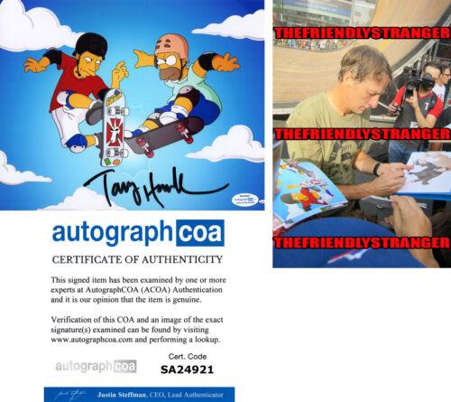 "TONY HAWK signed Autographed ""THE SIMPSONS"" 8X10 PHOTO - PROOF - Homer ACOA COA"