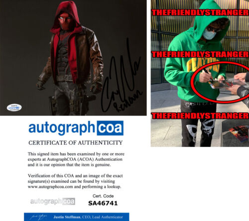 "CURRAN WALTERS signed ""TITANS"" 8X10 PHOTO c EXACT PROOF - Red Hood ACOA COA"