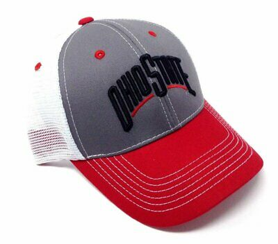 new products 89a7d 98f55 Ohio State Buckeyes Adjustable Cap Mesh Hat Snapback