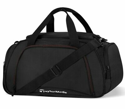 TaylorMade Black Duffle Bag Golf Travel Carry On 18