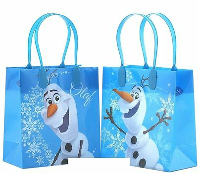12PCS Disney Frozen Olaf Authentic Goodie Party Favor Gift Birthday Loot Bags - Frozen Goodie Bags