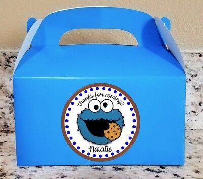 12 Cookie Monster Candy Bags Cookie Monster Favor Boxes  (Cookie Favor Boxes)