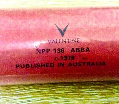 ABBA 1976 POSTER Ring Ring era VALENTINE FRIDA BOOTS Never Used Aust 61x92 *MINT