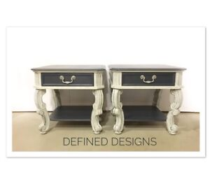 Solid Grey and Navy End Tables/SideTables