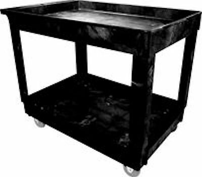 Rubbermaid Commercial Heavy Duty Pocket Shelf Utility Cart 9t67 Black