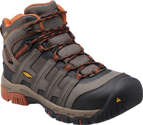 Boots - Keen Utility Men's Omaha Mid Waterproof Steel Toe Work Boots Style 1014611