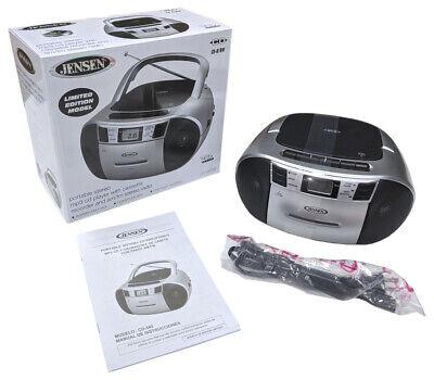 Jensen CD-545SB Portable Stereo MP3-CD Player Cassette Recorder AM/FM Boombox